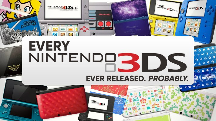 Every Nintendo 3DS Variant Ever Released. Probably.