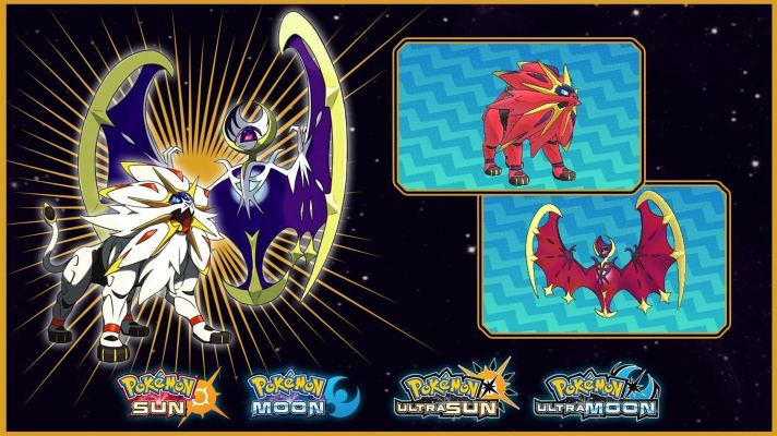 Shiny Solgaleo and Lunala codes for Ultra Sun and Moon available at EB Games