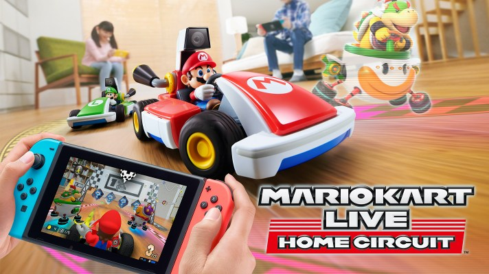 Mario Kart Live: Home Circuit is a Switch AR game using a real Mario Kart RC toy