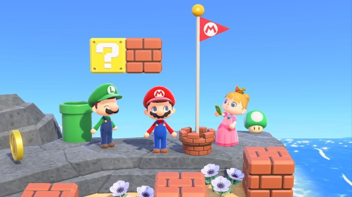 First look at Super Mario items in Animal Crossing: New Horizons