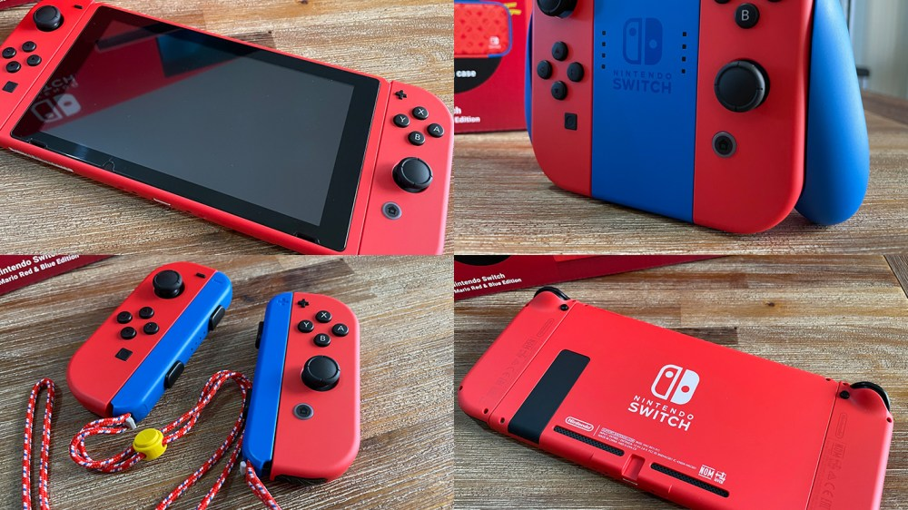 A look at the Mario Red + Blue Limited Edition Nintendo Switch - Vooks