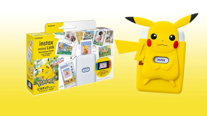 Print your Pokémon photos in a Snap with this Instax Mini Link Pikachu edition