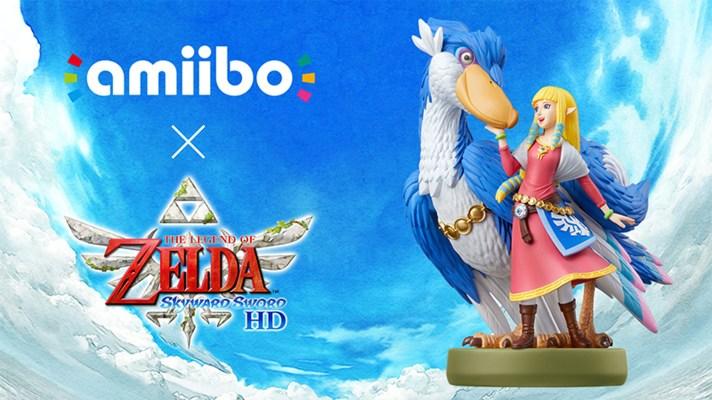 Zelda and Loftwing amiibo arrive alongside Skyward Sword HD