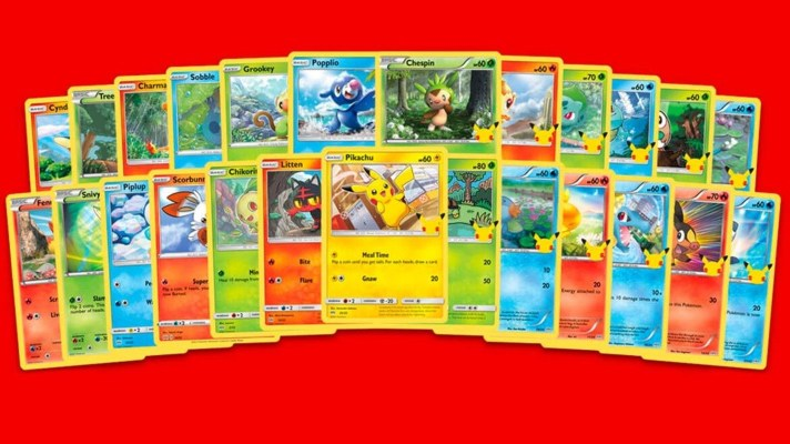 25th Anniversary Pokémon cards arriving at Macca's this week