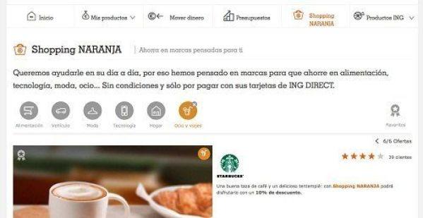 ING DIRECT Shopping Naranja