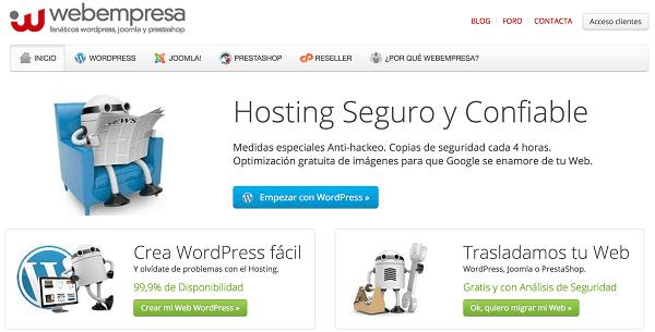 Webempresa hosting calidad
