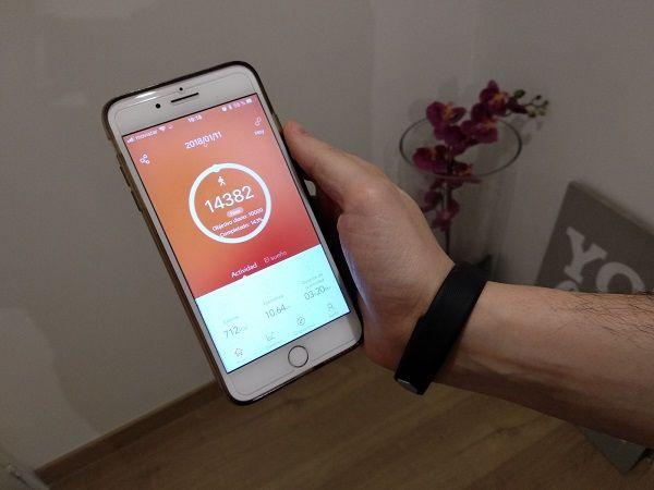 Aplicacion smartphone movil smartband pulsera inteligente