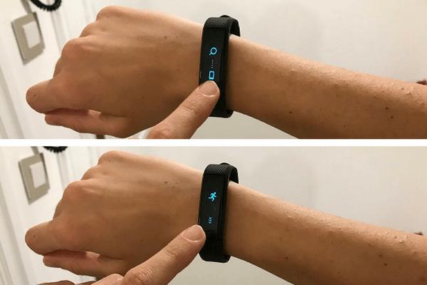 Sincronizacion pulsera inteligente smartband con aplicacion movil