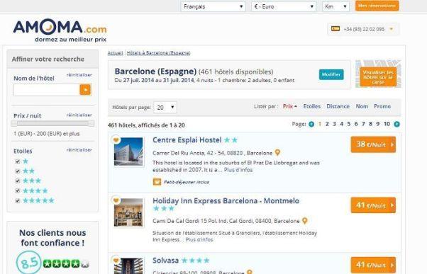 Réservation Amoma.com