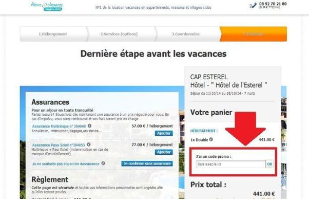 Réduction Pierreetvacances