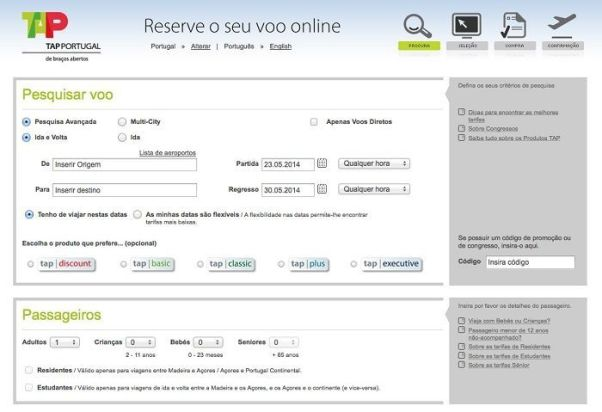 Codigo promocional desconto TAP Portugal
