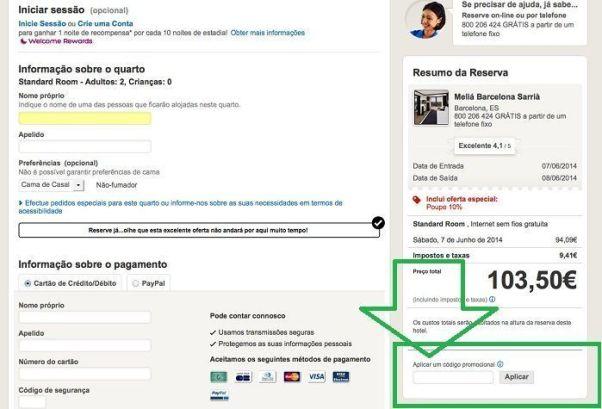 Codigo Promocional Desconto Hoteis.com