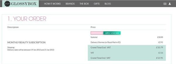 glossybox promotion code