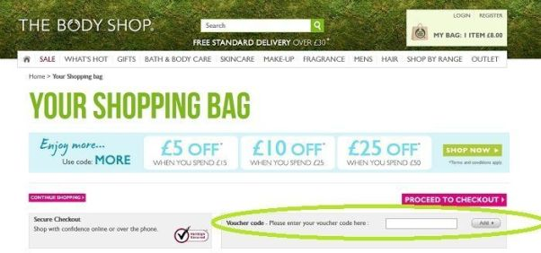 thebodyshop voucher code