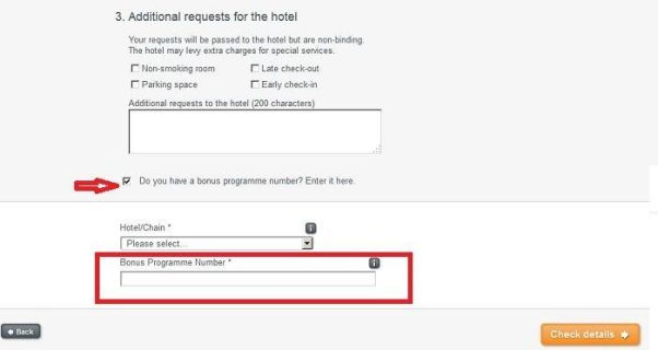 hotel.info bonus programme number