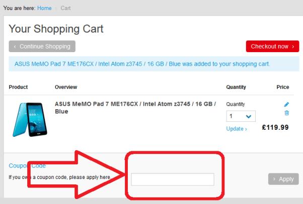 Asus discount code