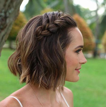 Peinados Para Novias Con Cabello Corto - Peinados-para-novias-pelo-corto