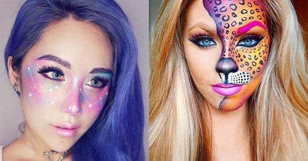 si lo tuyo no es lo terrorfico te traemos 5 ideas lindas de maquillaje para halloween necesitas productos muy coloridos para stos looks para que sea ms - Maquillaje Halloween