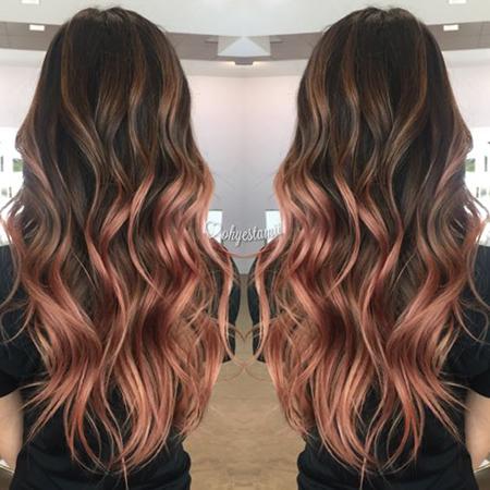 Rose Gold el color de cabello más HOT