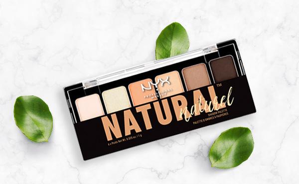 Sombras de ojos en tonos cafés de NYX para maquillaje natural