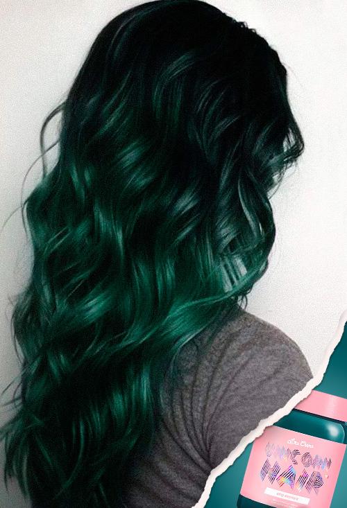 tintes de cabello Unicorn Hair: Sea Witch de Lime Crime
