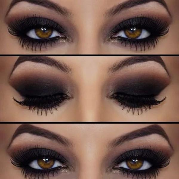 maquillaje de noche, ojos ahumados