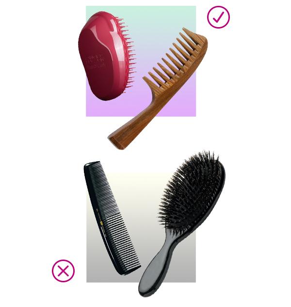 Cepillo adecuado para cabello rizado