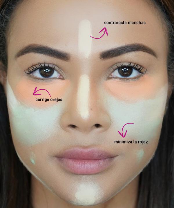 Para un maquillaje de noche cubre tus imperfecciones usando corrector