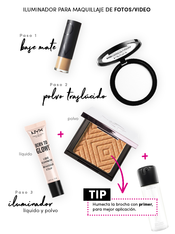 Iluminador para maquillaje de fotos/video
