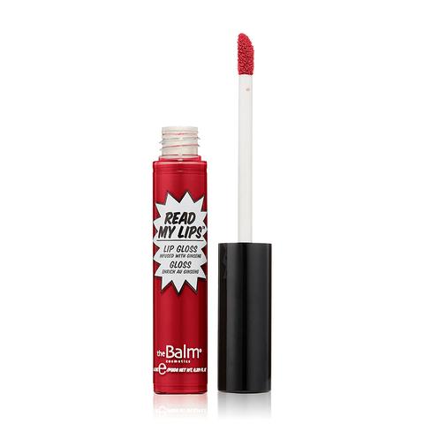 brillo de labios en tono rojo