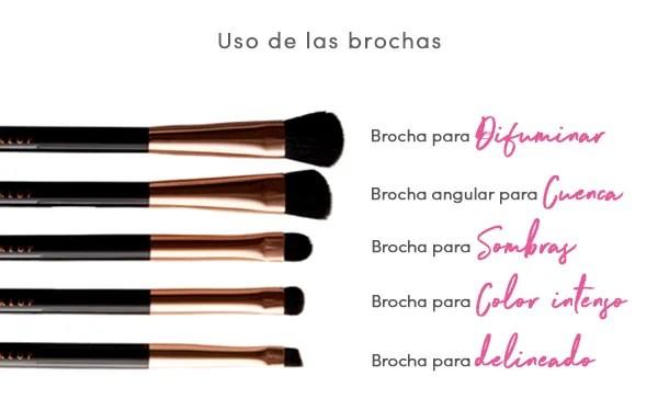 kit de brochas de maquillaje básicas para maquillista profesiona