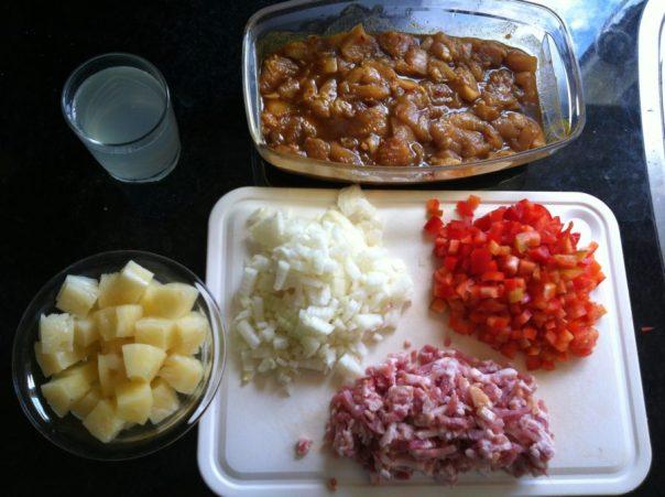 Ingrediënten vlees