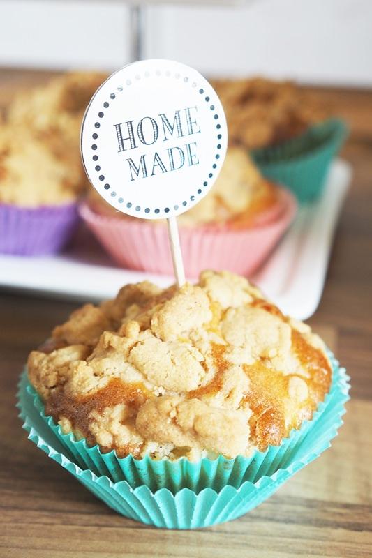 apfel streusel muffins backen