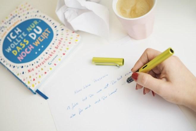 brief schreiben ich wollte nur dass du noch weisst nie verschickte briefe
