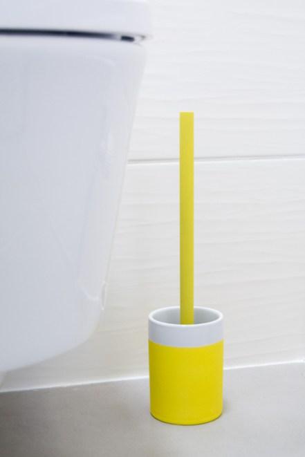 WC Garnitur Gaeste Toilette Gelb