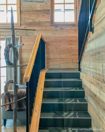 treppe chalet im weidach ferienhaus