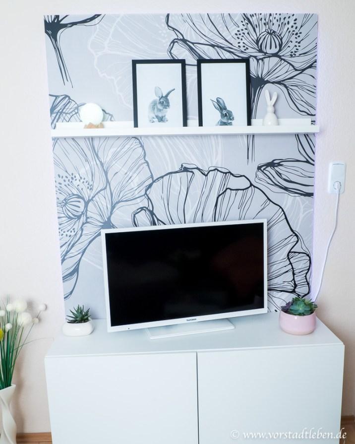 DIY TV Wand Pixers selbstklebende Fototapete Anleitung