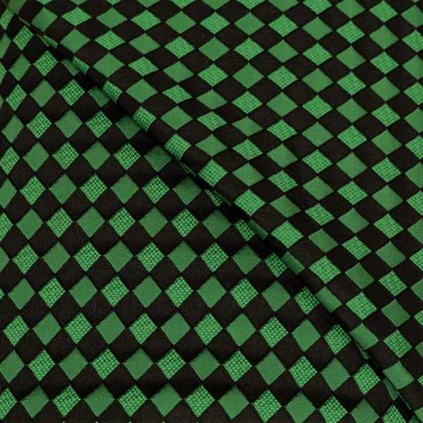 57.08615.029 Jacquard Blok Diagonaal grasgroen