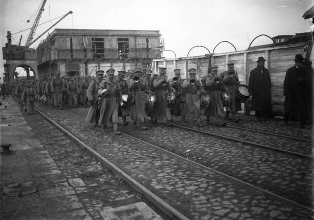 Partida das tropas portuguesas para França