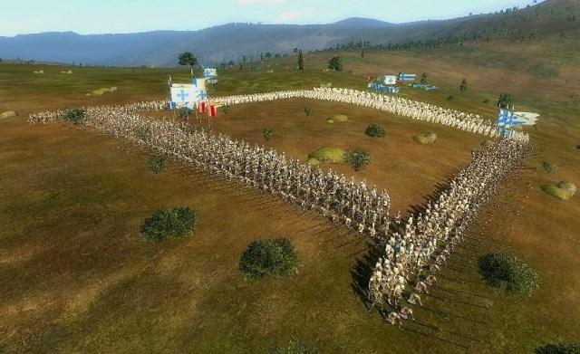 Táctica do quadrado usada na Batalha de Aljubarrota