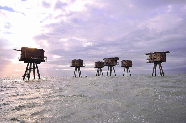 Forte marítimos de Maunsell, Tâmisa, Reino Unido