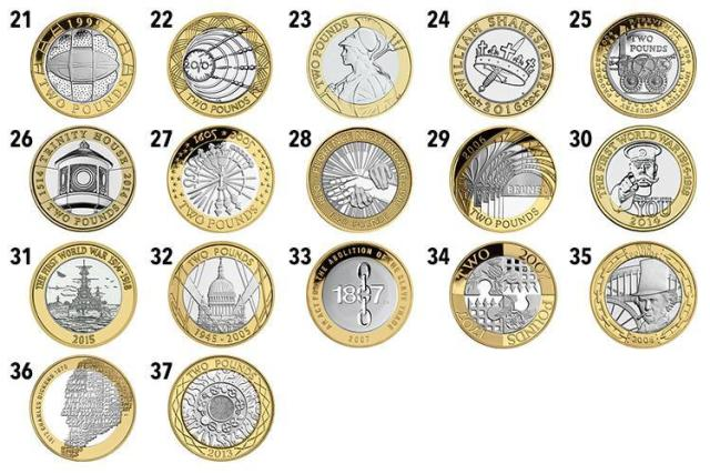 which two pound coins are rare