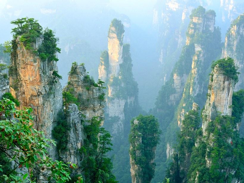 Área cénica de Wulingyuan: Zhangjiajie, China