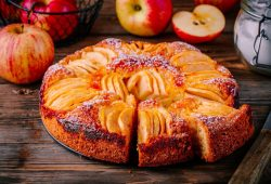 Bolo de maçã sem açúcar