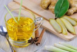 Chá de cidreira com gengibre e limão