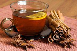 Chá de canela e limão