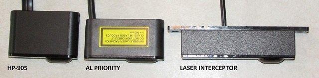 Blinder HP-905, ALP, and LI heads, image courtesy of BestRadarDetectors