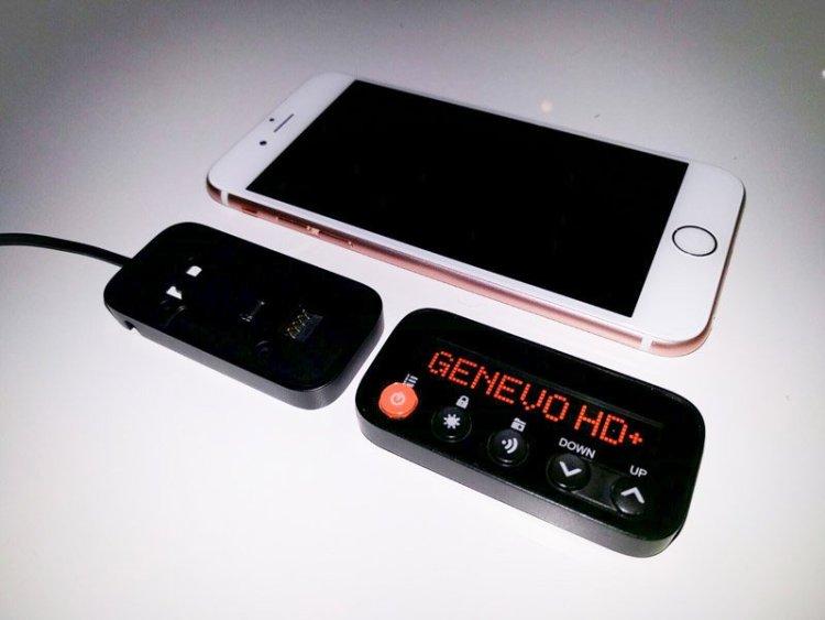 Radenso HD+ display split apart
