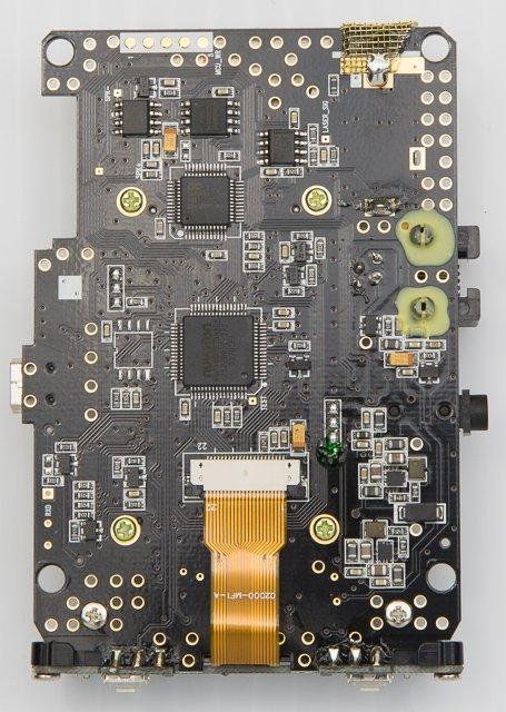 Uniden R1 Internals Under the Hood, underside of PCB