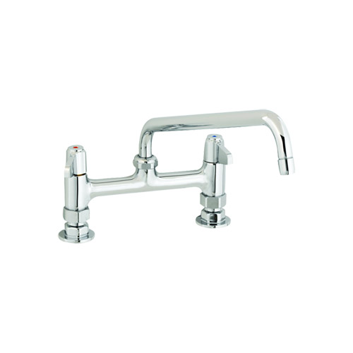 t s 5f 8dlx10 deck mount faucet with 8 centers and 10 swing nozzle